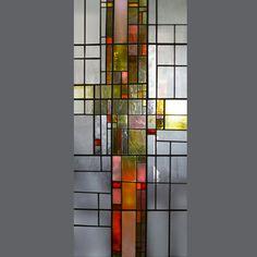 Vitral, ano 2007, residência particular, dim. 172 x 76 cm