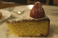 Almond cake at MarieBelle in SoHo NYC