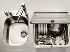 Less is More: Dishwasher Is Integrated Into Sink