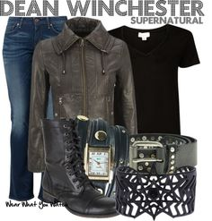 "Inspired by Jensen Ackles as Dean Winchester on ""Supernatural"" - Shopping info!"