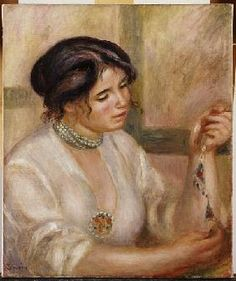 Pierre-Auguste Renoir - Woman with a Necklace