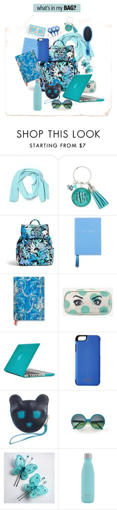 """""""Shades of Blue"""" by metter1 ❤ liked on Polyvore featuring Talbots, Vera Bradley, Smythson, Zoella Beauty, Speck, Kate Spade, Karen Walker, Mondelliani, S'well and backpack"""