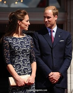 June 30, 2011 - The Duke and Duchess of Cambridge outside the official residence of the Governor General of Canada, Rideau Hall in Ottawa, on the first day of their visit to the Commonwealth country.