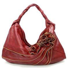 Zipper Rose Handbag