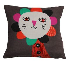 Killary Linen cushion. 32 x 32 cm. Feather filled with zip and black back.