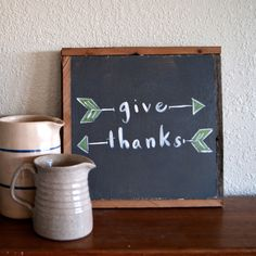 Averie Lane Boutique - Give Thanks with Arrows - reclaimed wood, vintage books, mason jar