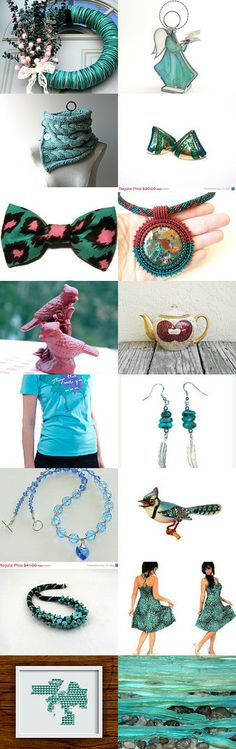 Turquoise Christmas by Keith And Olga on Etsy--Pinned with TreasuryPin.com