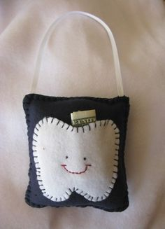 I wanna make this: Navy Blue Tooth Fairy Pillow by LaughRabbitJr on Etsy, $10.00