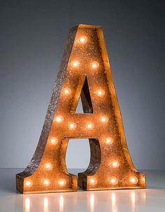 Vintage Marquee Lights - Letter A