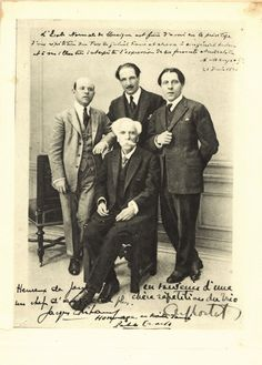Gabriel Fauré with Pablo Casals, Jacques Thibaud, and Alfred Cortot.