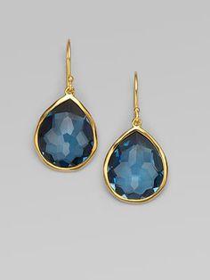 Ippolita - London Blue Topaz & 18K Yellow Gold Earrings
