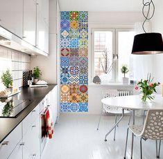Portuguese Tiles - Azulejos - Tile Decals - Tile Stickers - Kitchen Splash Back - Tiles - Bathroom Tile Decals - Pack 48 - SKU:AZU by HomeArtStickers on Etsy https://www.etsy.com/listing/202360562/portuguese-tiles-azulejos-tile-decals