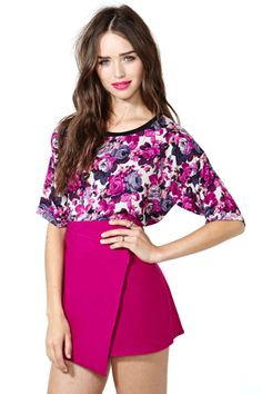 Nasty Gal Out of Bounds Skirt - Magenta   Shop Shop All at Nasty Gal