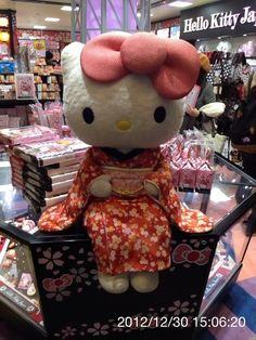 New Year's Kimono Hello Kitty at Tokyo Skytree|着物姿のハローキティ鎮座 ---------- #japan #japanese