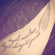 Angels never leave they are always by your side