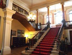 The Staircase Hall - Arlington Court, Nr Barnstaple, North Devon, UK. A National Trust Property.