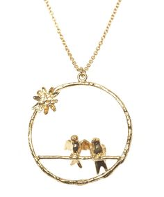 Alex Monroe - Gold Plated Mr & Mrs Bird Loop Necklace, Alex Monroe - this would be perfect for our wedding