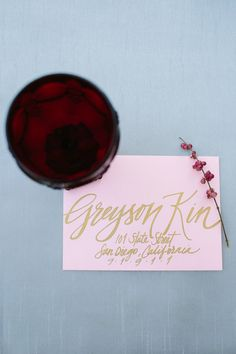 Hand Painted Envelope Calligraphy for Custom Wedding by RachelCarl