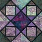 Stained Glass Square Dance Quilt Block Pattern