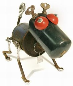 Recycled materials into funky toys or garden ornaments