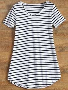 Stripes Tunic T-Shirt - STRIPE M