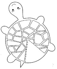 Turtle craft template (site is in Turkish language but it has some great coloring/craft images)