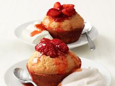Strawberry Corn Cakes Recipe : Food Network Kitchen : Food Network - FoodNetwork.com