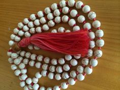 6mm white howlite mala by Aummalas on Etsy