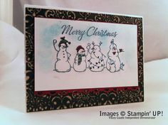Frosty Friends Merry Christmas by tlcaudle - Cards and Paper Crafts at Splitcoaststampers