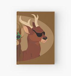 Deer with Sunglasses Hardcover Journal #deer #reindeer #hipster #sunglasses