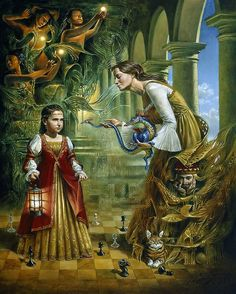 On the Edge of Eternity (Alexandra) by Michael Cheval