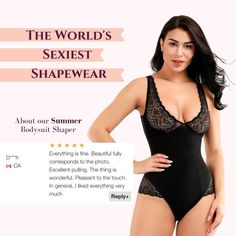 Summer | Core Control Fit Sculpting Lace Bodysuit On Sale | Femcodes.com Stylish Dresses, Nice Dresses, Best Underwear, Everything Is Fine, Lace Decor, Women's Shapewear, Love Handles, The Thing Is, Lace Bodysuit
