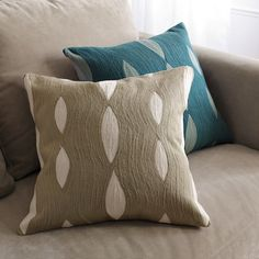Allegra Hicks Wave Pillow Covers from West Elm. Love the texture and colors.
