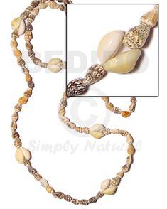 Hawaiian design shell necklaces