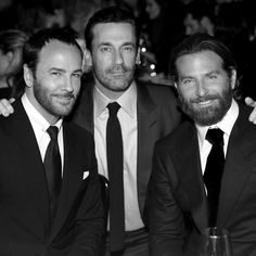 Tom Ford, Jon Hamm and Bradley Cooper in TOM FORD suits at the 2nd Annual InStyle Awards.