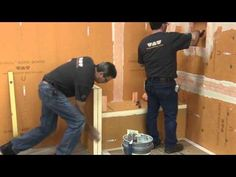 Custom showers made easy and waterproof with Schluter®-KERDI-BOARD - Video Shower Niche, Home Garden Design, House Tiles, Custom Shower, Tile Installation, Plumbing, Home Projects, Boards, Showers