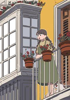 Cartoon Kunst, Anime Kunst, Cartoon Art, Anime Art, Kunst Inspo, Art Inspo, Art And Illustration, Illustrations, Cartoon Wallpaper