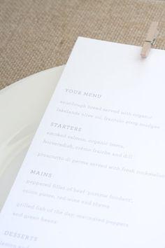 beautiful menu