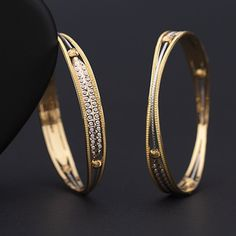 Plain Gold Bangles gms) - Fancy Jewellery for Women by Jewelegance Gold Ring Designs, Gold Bangles Design, Gold Jewellery Design, Gold Jewelry, Plain Gold Bangles, Gold Bangles For Women, Silver Bangles, Indian Jewelry Earrings, Fancy Jewellery