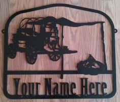 Custom Chuck Wagon Sign CNC Plasma Cut Metal Art. $125.00, via Etsy.
