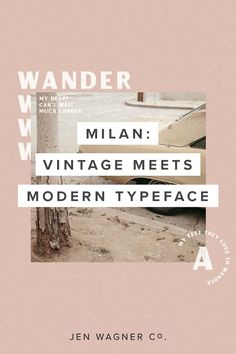 Milan is an incredibly versatile vintage-meets-modern typeface and looks good on just about everything. (samples + inspiration here) Font Design, Web Design, Layout Design, Creative Design, Branding Design, Typography Inspiration, Layout Inspiration, Graphic Design Inspiration, Editorial Layout