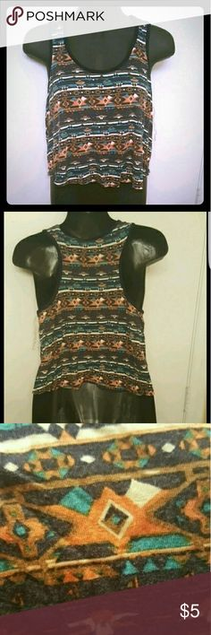 Tribal Print Loose Tank Top Has been worn a few times. Has sat in my closet for months please help me clean out my closet! Rue21 Tops Tank Tops
