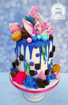 Simple birthday cake inspired by Unbirthday Bakery