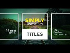 Simply Titles | After Effects template