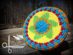Crochet Frisbee Flying Disc Made to Order by MaMadeCreations, $15.00