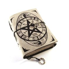 Leather journal by Kreativlink on etsy