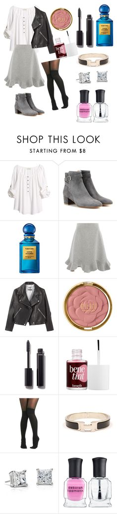 """Walk"" by cmon890 ❤ liked on Polyvore featuring H&M, Gianvito Rossi, Tom Ford, Mary Katrantzou, Acne Studios, Milani, Chanel, Benefit, Pretty Polly and Hermès"
