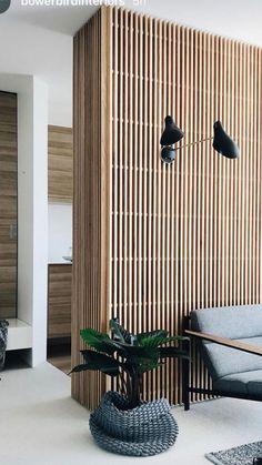 Interior architecture design - New Sites Wood Slat Wall, Wooden Slats, Wood Paneling, Wood Walls, Timber Panelling, Wood Covered Walls, Interior Walls, Interior And Exterior, Interior Inspiration