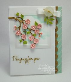 Cherry by whippetgirl - Cards and Paper Crafts at Splitcoaststampers Atc Cards, Sympathy Cards, Memory Box Cards, Quilling Designs, Get Well Cards, Heart Cards, Card Sketches, Flower Cards, Handmade Crafts
