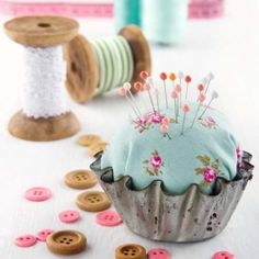 Make a super cute, super easy pincushion.